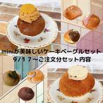 miniが美味しいケーキベーグルセット(8個)
