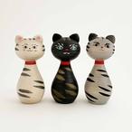 猫の木地玩具(津軽系/長谷川優志工人)