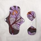 オーガニックコットン布ナプキン African Print Purple