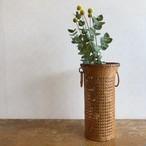 竹編み花かご