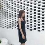 flounce sling dress 2316