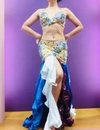 エジプト製 ベリーダンス衣装 コスチューム ブルー&パープル