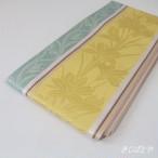 正絹博多織半幅帯 花 窃黄と薄水