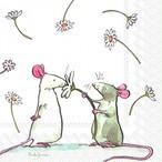 【IHR】バラ売り2枚 ランチサイズ ペーパーナプキン A DAISY FOR YOU ホワイト