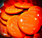 6周年缶バッヂ「COFFEE HAS NO BORDER 2020」