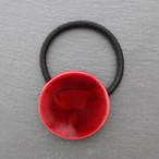 飛騨春慶塗 ヘアゴム 円 紅×箔 (H006)