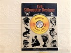 【VA255】150 Silhouette Designs CD-ROM and Book (Dover Electronic Clip Art)   /visual book