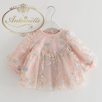 ベビー 赤ちゃん 可愛い ピンク 海外 刺繍 長袖 秋 冬 誕生日 発表会 女の子
