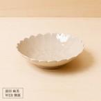 44[前田 麻美 個展]灰琥珀釉 菊5寸鉢