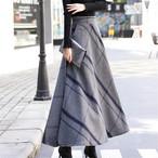 【ボトムス】秋冬綿長め太めの大きなスイングスカート13818070