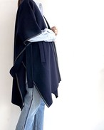 PIPING DESIGN WOOL PONCHO / SALT+JAPAN