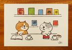 にゃんきーとすポストカード ブックカフェ[NKPC-03]