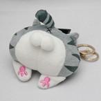 猫のおしりぬいぐるみキーチェーン【猫 肉球 キュート AL008】
