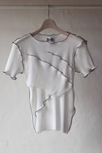 【KOTOHAYOKOZAWA】pleats top short sleeve-white
