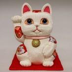 まねき猫(中) 風水シリーズ(白)