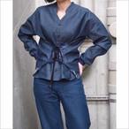【hippiness】union denim corset shirt/【ヒッピネス】ユニオン デニム コルセット シャツ