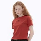 「STD1」クロップドTシャツ(ブリック)