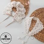 «予約»natural lace cape 2pattern ナチュラル レースケープ 付け襟 つけ襟