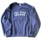 Super loose crewneck sweatshirts BLUE GRAY