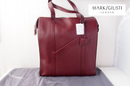 <マーク・ジュスティ|MARK/GIUSTI>トートバッグSHOREDITCH DARK RED LEATHER TOTE