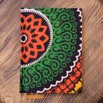 タンザニア 赤花柄 A6罫線Colorisノート ポータブルサイズ