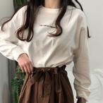 【tops】カジュアルアルファベットプリントキャンパスTシャツ 14992378