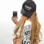 COCOロゴ刺繍 ローCAP キャップ