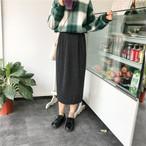 ハイウエストスカート ロングスカート 秋冬商品 ボトムス【0347】