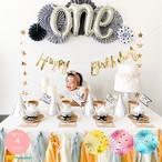 【これ1つで】ファーストバースデーセット 選べる4color 男の子 女の子 初めてのお誕生日飾りつけ