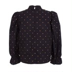 WILLOW BLOUSE GOLD POLKA DOTS