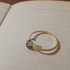 【受注生産】K10 ハーキマークォーツリング herkimer quartz ring