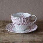 ジョンソンブラザーズ ローズブーケ ピンク 薔薇 花柄 コーヒーカップ ソーサー #200803-1,2 イギリス ビンテージ 食器 Johnson Bros. Rose Bouquet