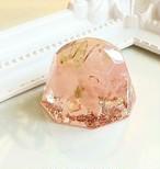 ダイヤモンド型(S) ローズクォーツ オルゴナイト 美しい生き方をサポートするストーン