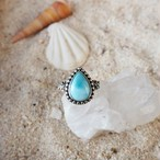 Drop Larimar Plumeria Ring #2