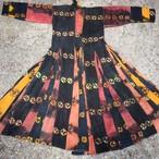 ラダック 藍染め十字絞りドレス