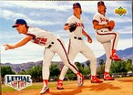 MLBカード 93UPPERDECK Mark Langston & Jim Abbott & Chuck Finley #53 ANGELS TEAMMATE