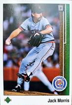 MLBカード 89UPPERDECK Jack Morris #352 TIGERS