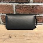 Round Zip Long Wallet Type-2 ITALY革 TEMPESTI Black
