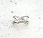 bone ring CROSS SILVER925 #01012-sv 骨クロスリング/シルバー925