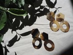 big orval horn pierce/earrings