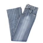 AC-3998 boots cut stripe denim pants