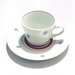 【砥部焼/梅山窯】コーヒー碗皿・蕎麦猪口型(たんぽぽ)