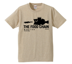 BURITSU THE FOOD CHAIN T : Beige×Black