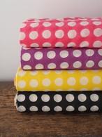 block print fabric a82 カラー地の水玉