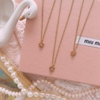 Pink Stone & Vintage Chain Necklace