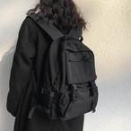 【送料無料】 大容量 バックパック 黒 リュック カジュアル カバン 便利 収納力 通学バック ママ マザーバッグ シンプル カジュアル メンズライク スポーツMIX