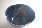 佐藤もも子|瑠璃釉陽刻文木瓜小鉢