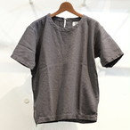 KUON(クオン) 刺し子織り半袖カットソー(シャツ) グレー