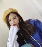 ベレー帽 刺繍 レトロ ヴィンテージ カラフル レディース オルチャン 韓国 原宿