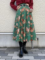 (TOYO) flower pattern flare skirt